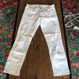 White distressed skinny jeans size 26